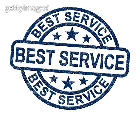 Best service concept icon shows first class support in business - 3d illustration