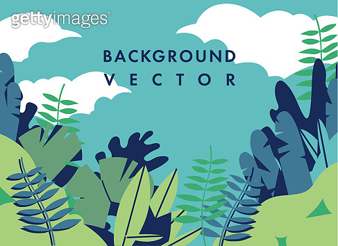 Vector landscape illustration with colorful colors - background with template text. Can be used for posters, placards, brochures, banners, web pages, headers, covers.