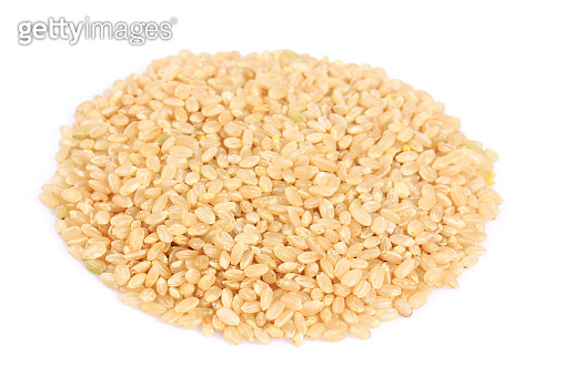 Brown Rice isolated on white background