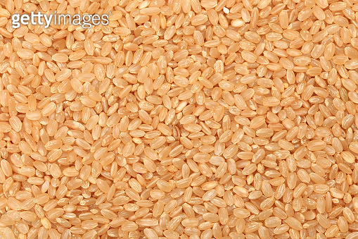 Healthy processed foods beneficial to human health ,Brown Rice  Isolated background