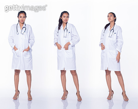 Doctor Nurse woman in labcoat uniform stethoscope