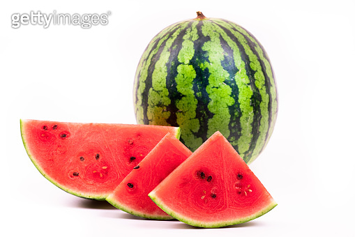 ripe watermelon on white