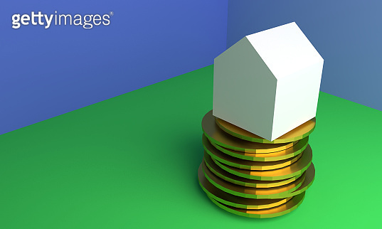 3D illustration of Home savings concept