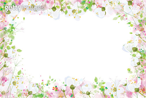 Vector beautiful, floral  frame,  isolated.