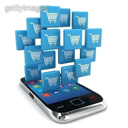 E-commerce online shopping marketing mobile phone