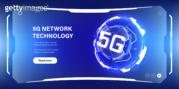5G network technology illustration