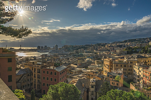 View of Genoa from