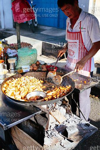Street Food Chef at Penang, Malaysia
