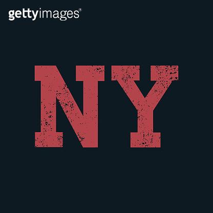 NY sign inscription
