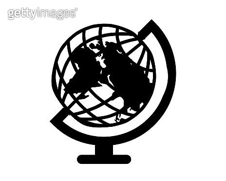 Vector isolated flat earth globe icon