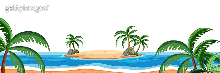A summer beach scene