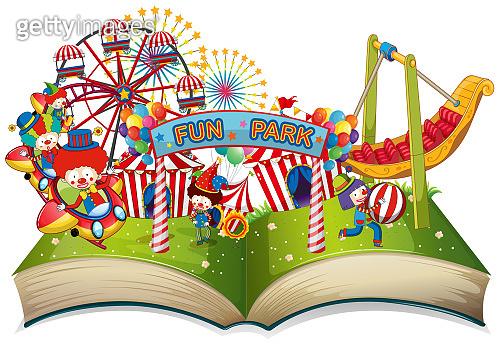 Open book fun park theme