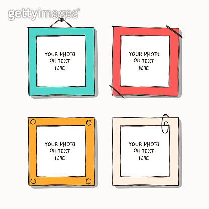 Template vector photo frames