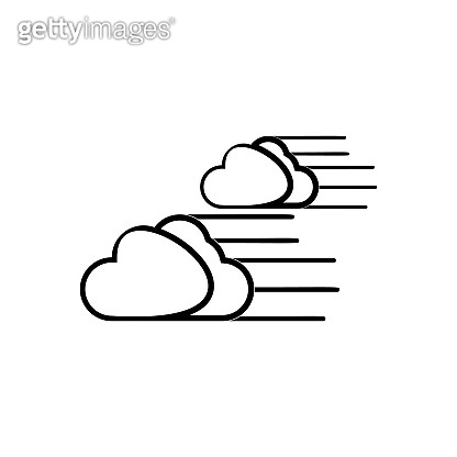 wind and clouds sign icon. Element of Weather for mobile concept and web apps icon. Outline, thin line icon for website design and development, app development