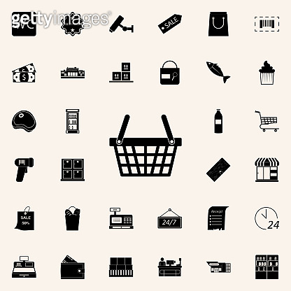 shopping basket icon. market icons universal set for web and mobile