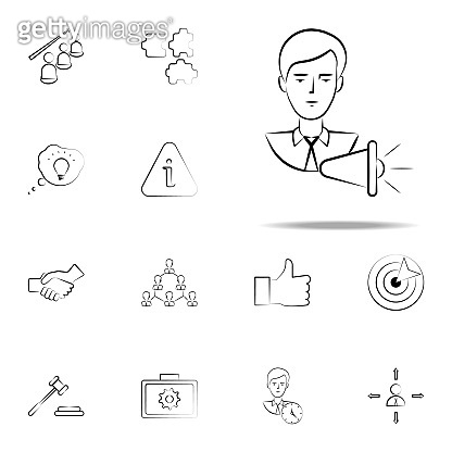 advertising, marketing, business hand drawn icon. business icons universal set for web and mobile