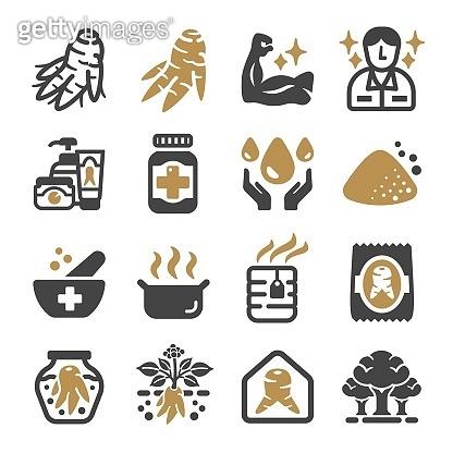 ginseng icon set