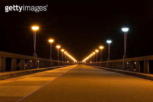 Light on bridge