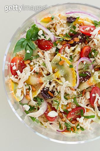 Summer Chicken Pasta Salad