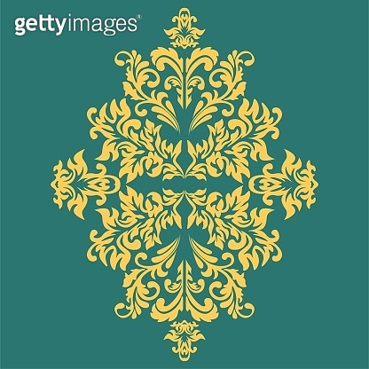 Damask wallpaper Vector illustration. Easily editable vector image.