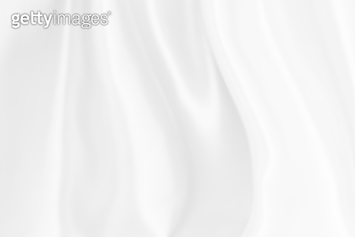 Blur White silk satin background smooth texture background. Abstract  grey wavy fabric cloth pattern or canvas soft, Natural linen textured design textile worsted have wave.