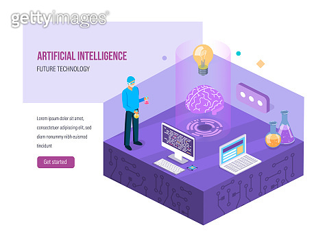Scientific research in chemical laboratory. System of artificial intelligence.