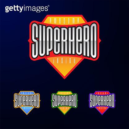 Sport emblem typography. Super hero logotype sticker for your t-shirt, print, apparel