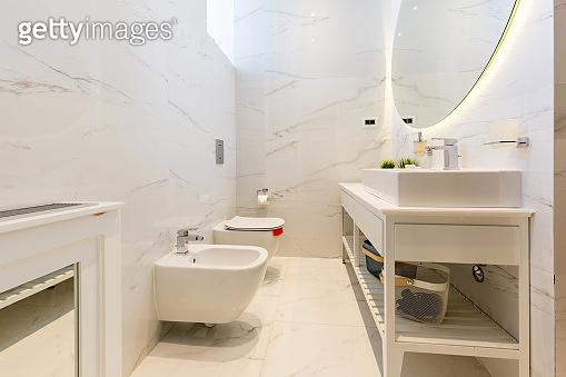 Interior of a luxury hotel bathroom