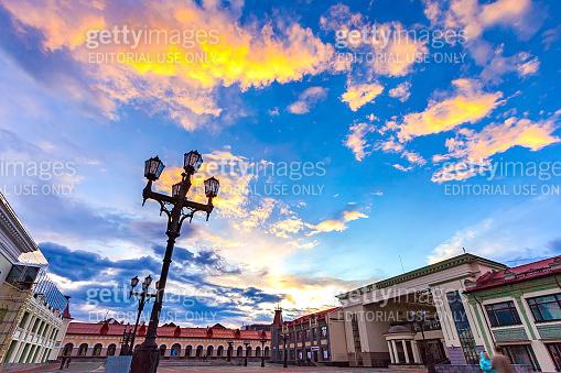 Gostiny Dvor square, Lenina street, Ufa, Bashkortostan, Russia.