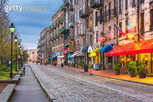 Savannah, Georgia, USA on River Street