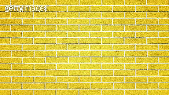 Yellow new brick wall texture background.