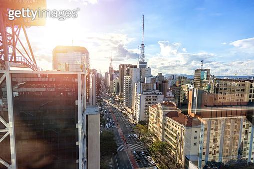 Aerial view of Paulista Avenue