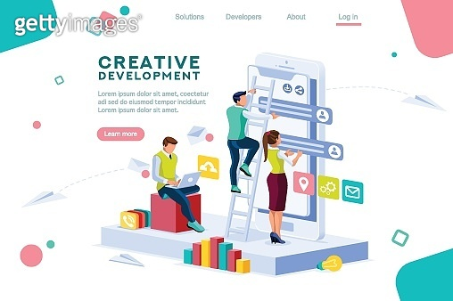 Career Application Concept Isometric