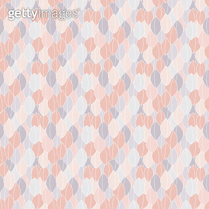 Seamless pattern with leaves in doodle style.