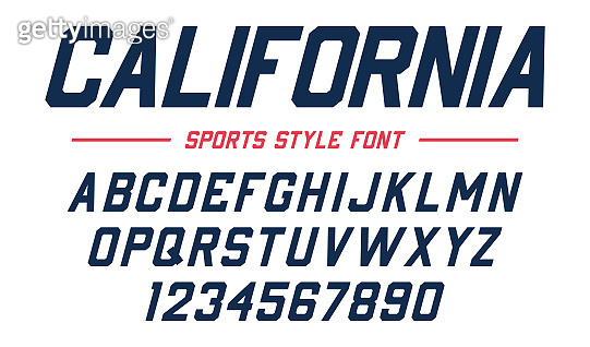 Classic college font  Vintage sport serif font in american style for