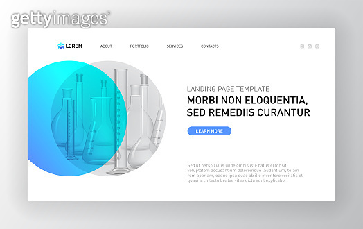 Pharmaceutical Landing page template