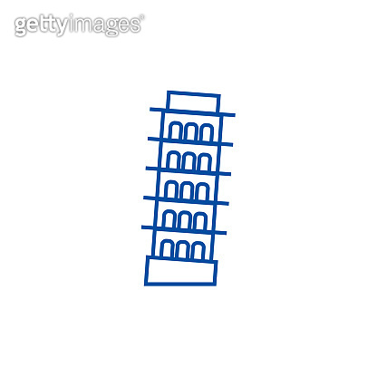 Pisa,italy line icon concept. Pisa,italy flat  vector symbol, sign, outline illustration.