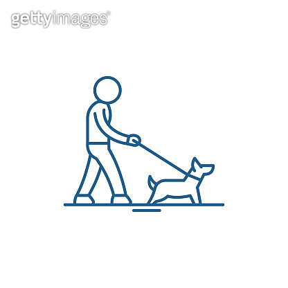 Pet care line icon concept. Pet care flat  vector symbol, sign, outline illustration.