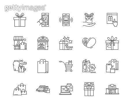Exclusive line icons, signs, vector set, outline illustration concept