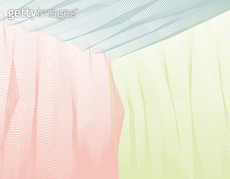 Vector abstract artistic background for design, linear 3d moire texture, inner space of a room. Fantastic psychedelic trendy modern op art, optical dimensional illusion.