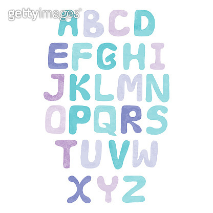 Pastel colors vector Alphabet nursery isolated on the white background