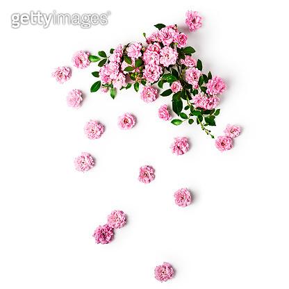 Small pink roses arrangement