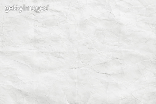 White paper crumpled, texture background