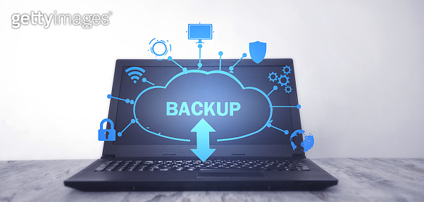 Data Backup. Cloud Download. Internet, Technology