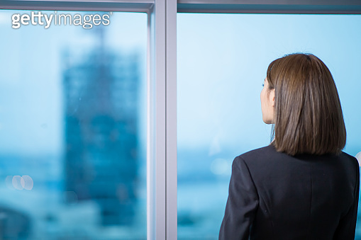 businesswoman ponder in the office