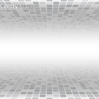 Vector illustration consisting of grey squares tiles and lighting.