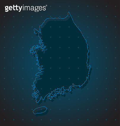 South Korea country map with creative dots vector