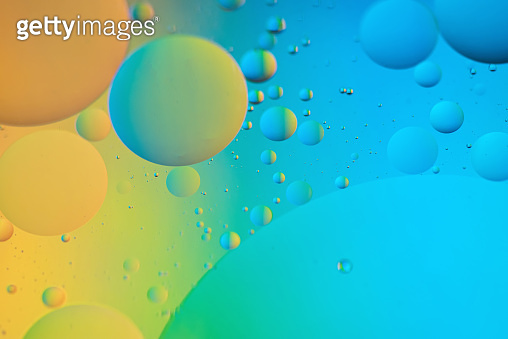 Abstract defocused background picture made with oil, water and soap