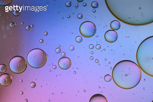 Multicolored abstract background picture made with oil, water and soap