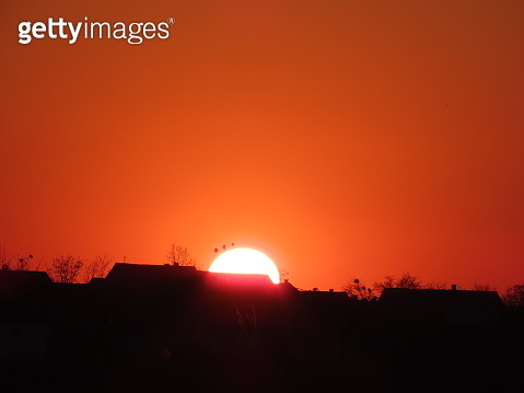 Panoramic Landscape with Sunset
